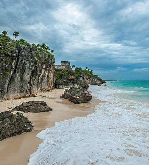 Tulum Beach near Ruins