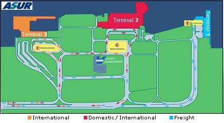 Cancun Airport Map Travel Yucatan