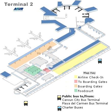 Cancun Airport Terminal 2 Departures