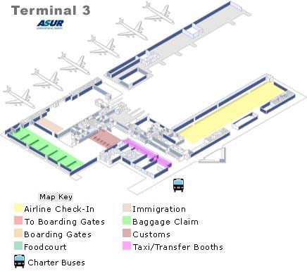 Cancun Airport Map   Travel Yucatan