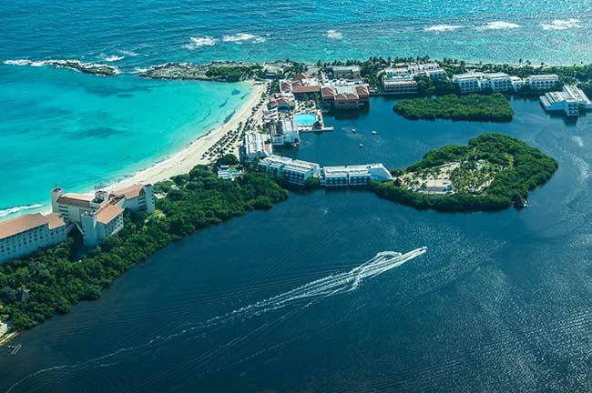 Cancun Aerial View of Peninsula