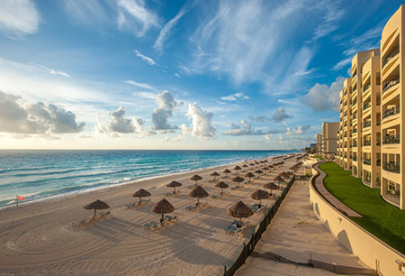 Cancun Beach in front of Resort