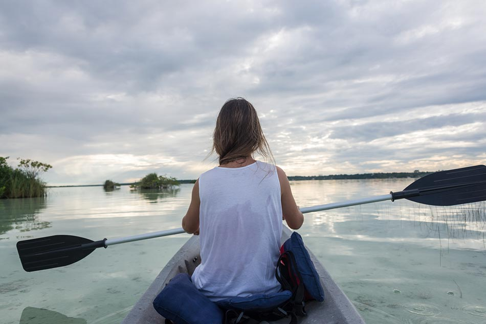 Canoeing-at-Lake-Bacalar