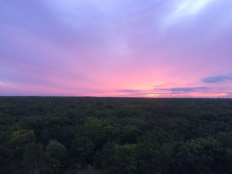 Coba sunset