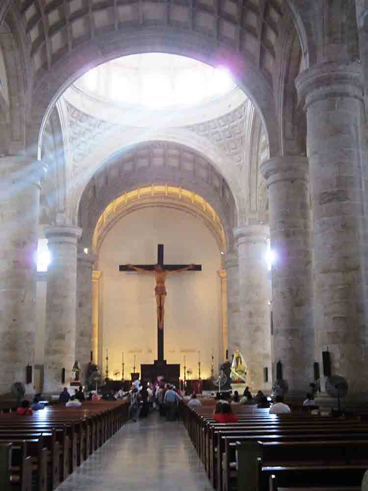 Inside Mérida's Cathedral de San Ildefonso