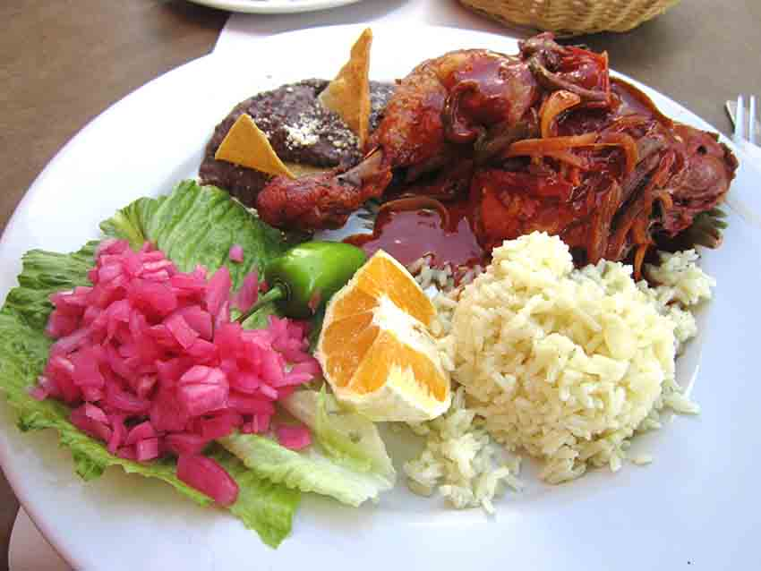 Pollo pibil, one of the region's delicious specialties