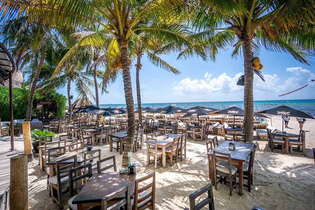 Beachfront Restaurants Zenzi Beach Bar Playa Del Carmen