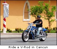 Cancun Harley V-Rod