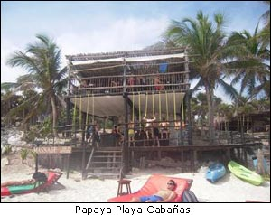 Papaya Playa Cabanas Tulum Mexico
