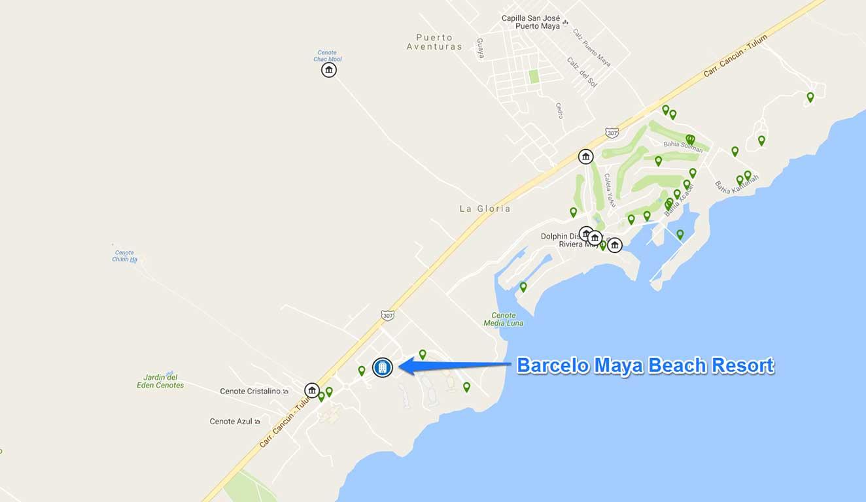 Barcelo-Maya-Beach-location-map