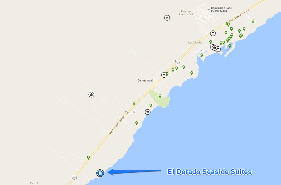 El Dorado Seaside Suites Location