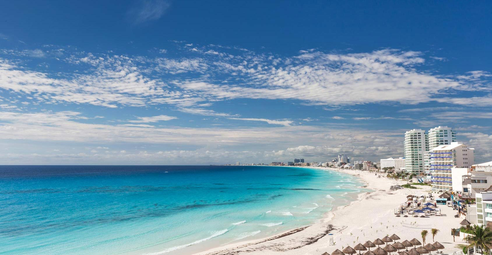 Cancun Beach with Hotels