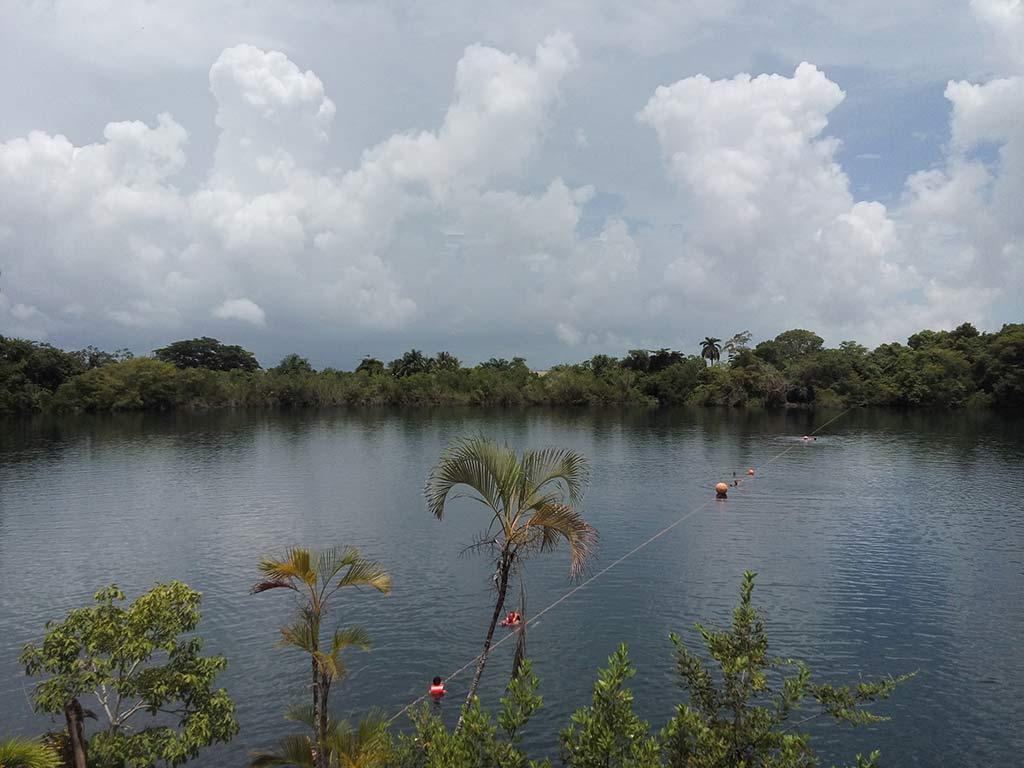 Cenote Azul Bacalar Mexico
