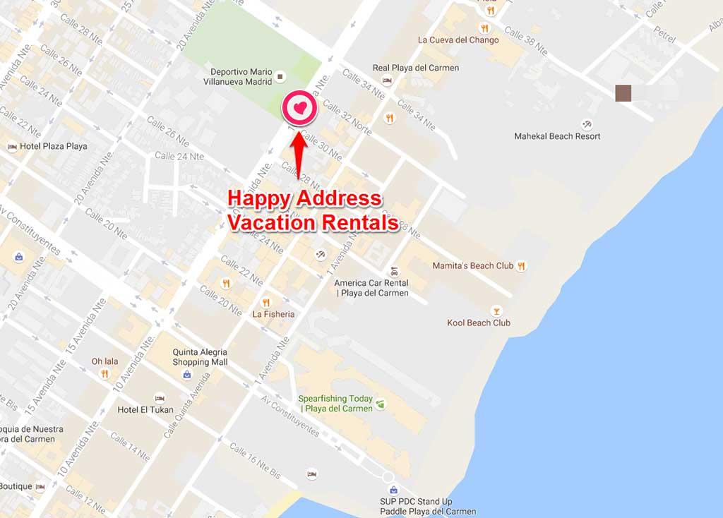 Happy Address Vacation Rentals location