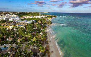 Aerial View of Playa del Carmen
