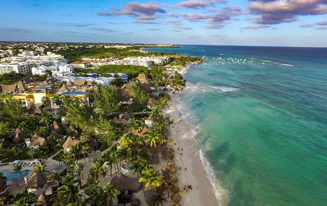 Aerial View of Playa del Carmen