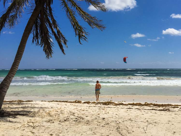 Tulum Beach with Parasail