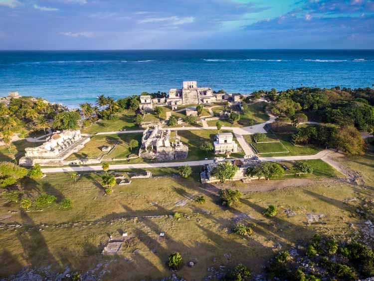 Aerial View of Tulum Ruins