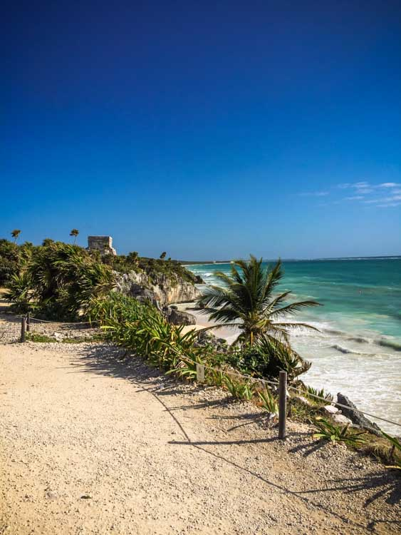Tulum Beach with Ruins