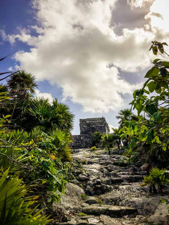 Unique view of Tulum Ruins