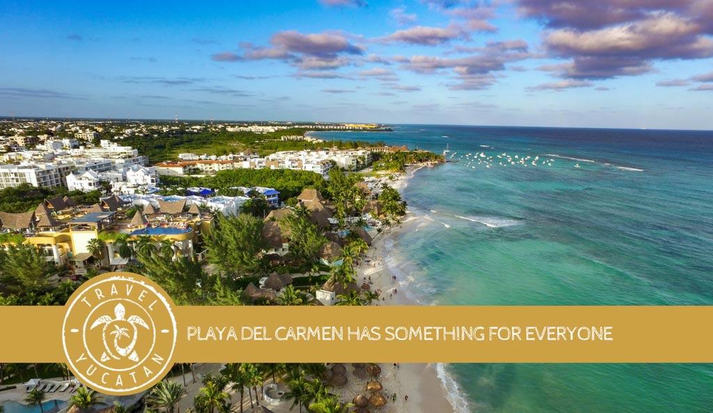 Playa del Carmen aerial view