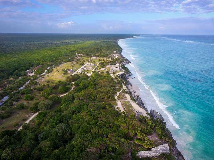Tulum Ruins Aerial View