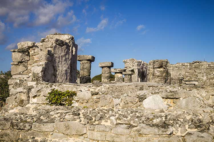 Tulum Ruins interior view