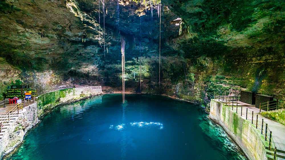 Cenote Hubiku near Valladolid Mexico