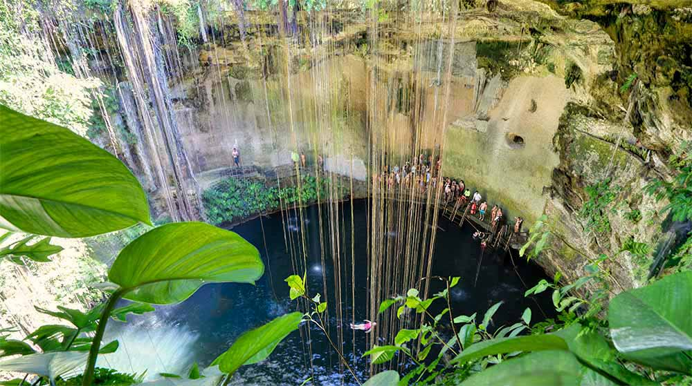 Ik Kil Cenote near Chichen Itza