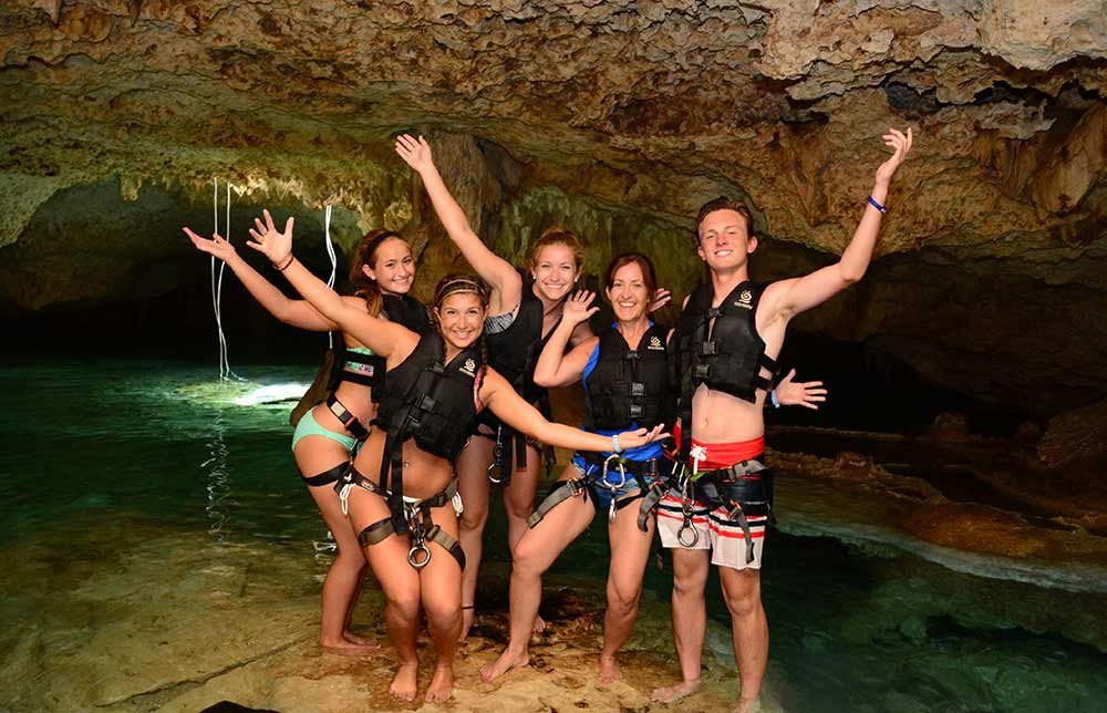 Cenote swimming at Emotions park Playa del Carmen